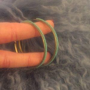 Like new hand beaded Anthropologie earrings